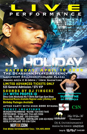 J Holiday Live @ Hyatt Regency Dearborn
