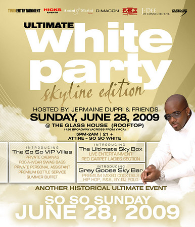 Ultimate White Party 09 | Skyline Edition